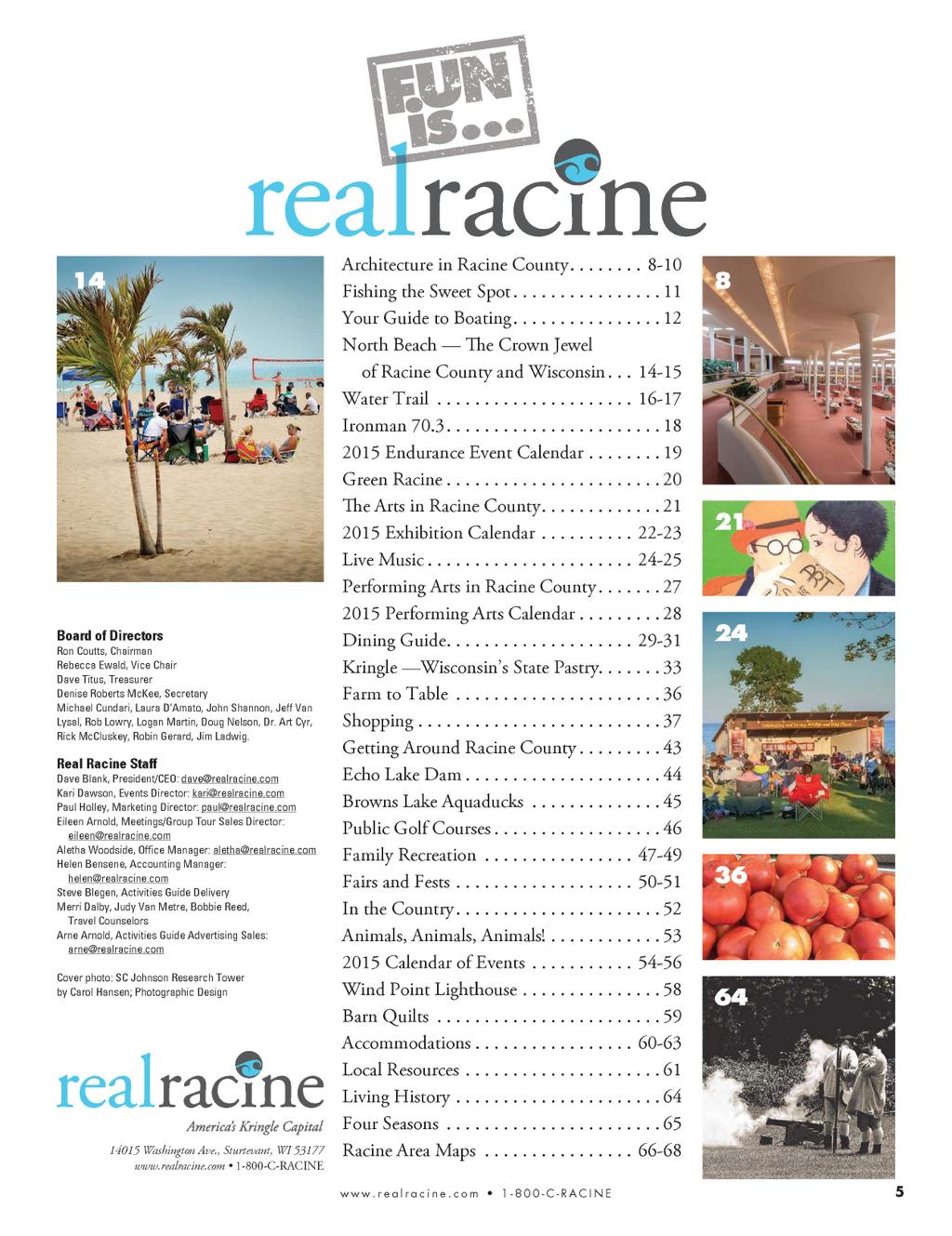 real racine real racine 2015 activities guide bluetoad