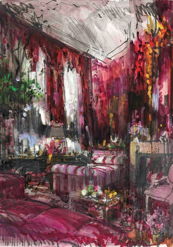 """Carolina Herrera Manhattan Living Room,"" (2009)"