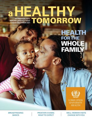 Aug - Sept 2021 A Healthy Tomorrow cover