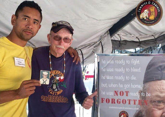 Kalani Creutzburg (left) had the honor of meeting this homeless Vietnam veteran. Creutzburg deemed him an angel from above, despite the struggles he encountered.