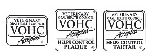 The VOHC Seal of Acceptance indicates that the product has met or exceeded the preset VOHC standards of efficacy in reducing dental plaque and/or tartar.