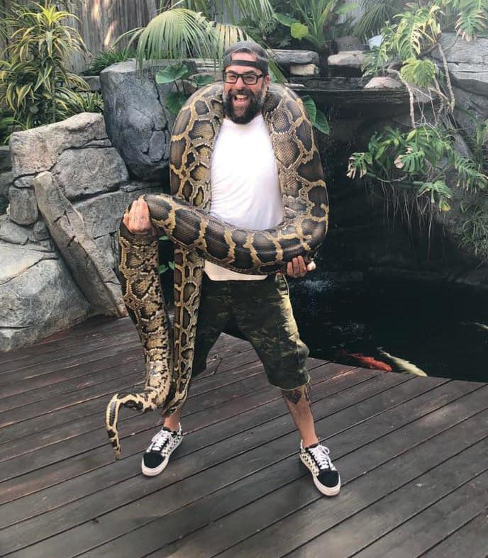 Antonio and a 20-foot python