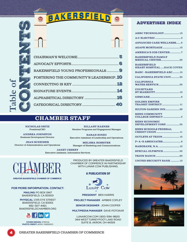 Bakersfield Chamber Bakersfield 2017 Business Directory
