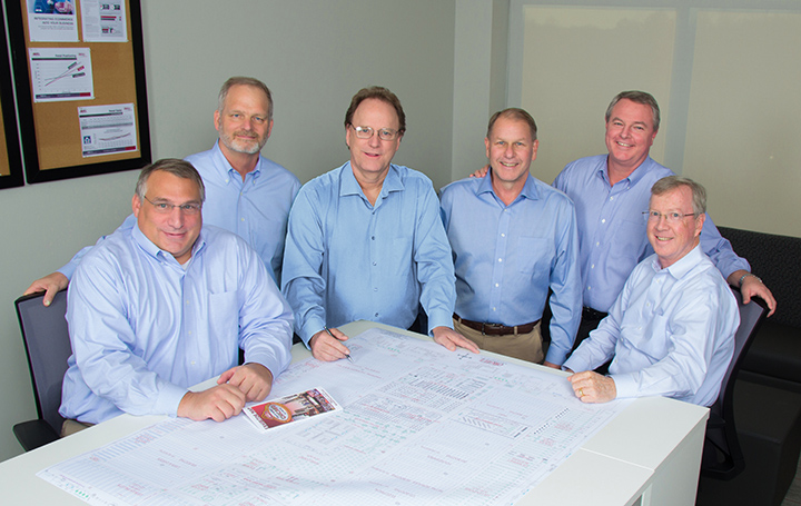 Orgill's new senior management team includes (left to right): Eric Divelbiss, John Sieggreen, Greg Stine, Brett Hammers, Boyden Moore and Randy Williams.