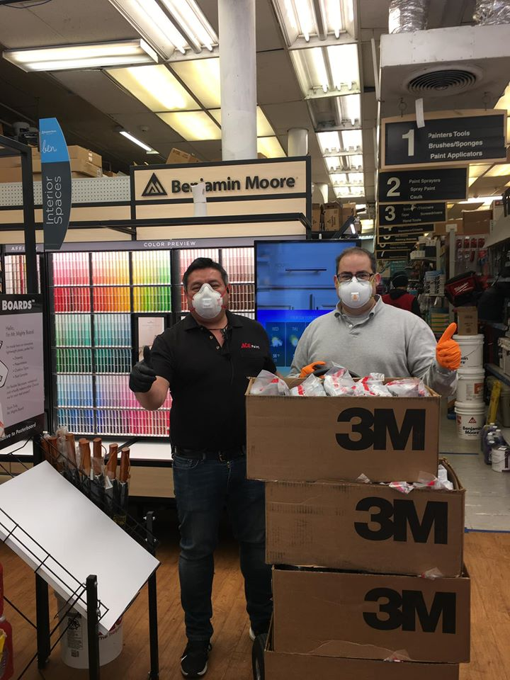 City Paint & Ace Hardware in Hoboken, N.J., donated more than 300 masks to local first responders.
