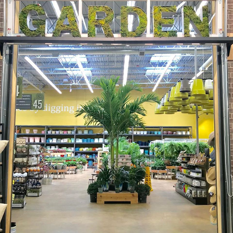 The 40,000-square-foot store includes a large garden center.