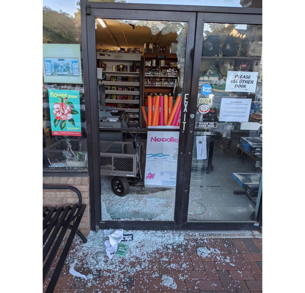 Fixit Ace Hardware in Atlanta was damaged by looters on May 30.