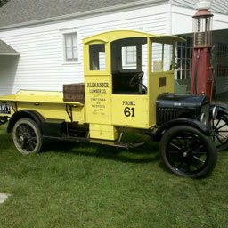 Alexander Lumber's first delivery truck from 1927 is still on display