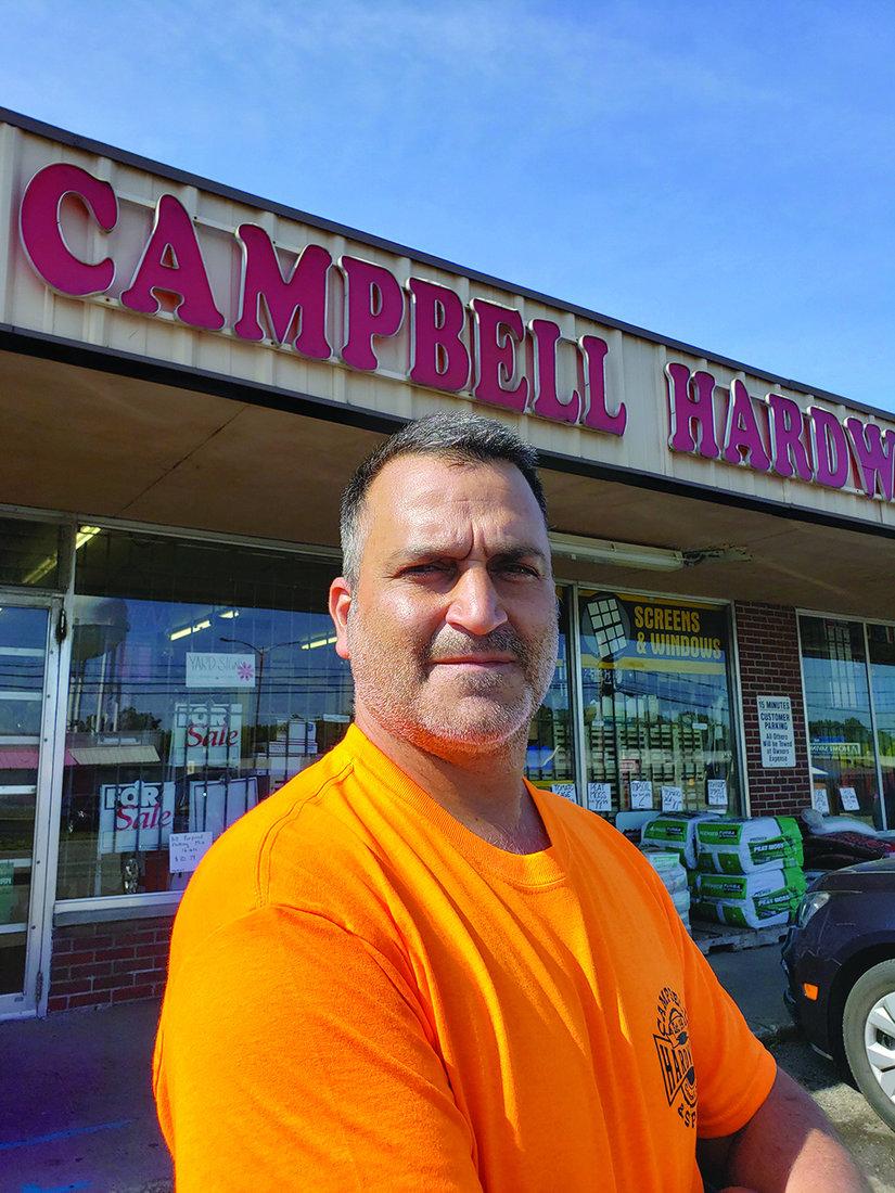 Tony Tsikouris operates Campbell PRO Hardware and Supply.