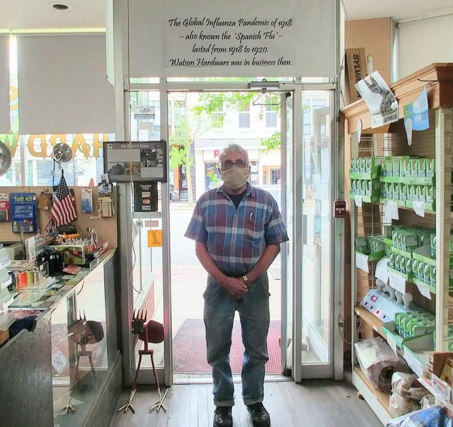 Jerry Anderson owns Century Club retailer Watson Hardware, which is going through its second global pandemic. Photo credit: Zachary Srnis, The Morning Journal.