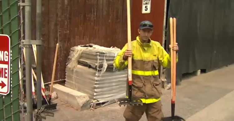 Morgan Scarborough, third-generation owner of Scarborough Lumber Ace Hardware in California, worked as a volunteer firefighter to save homes from the wildfires.