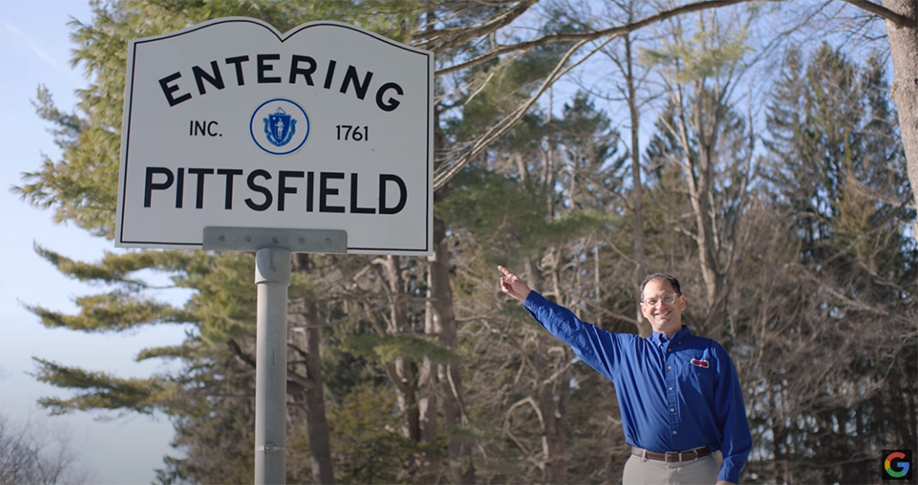 Bart Raser of Carr Hardware is proud the store and the city of Pittsfield were featured in a new film from Google.