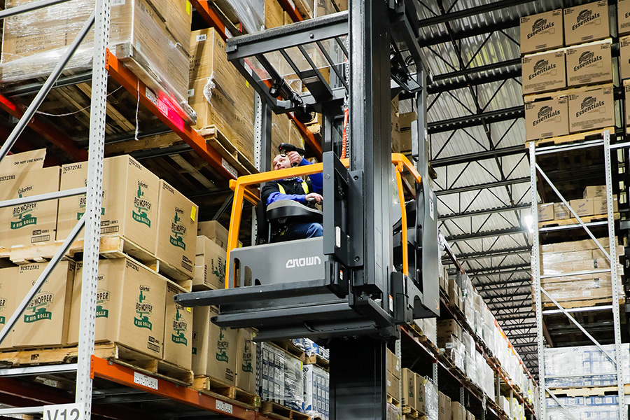 Orgill's Rome distribution center was designed using a very-narrow-aisle (VNA) layout, which allows for more merchandise to be stocked in less space.
