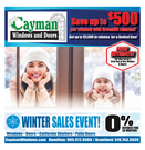 Current promotion - Cayman Windows and Doors