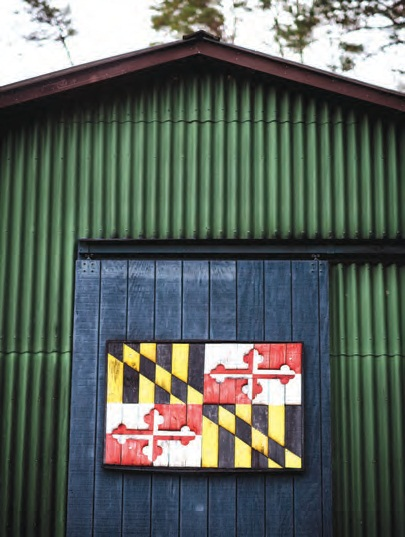 local business Rust2Relics created the Maryland flag from repurposed wood