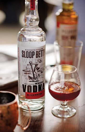 Blackwater's award-winning Sloop Betty Vodka; and a flight of rum.