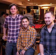 Mobtown Fermentation co-founders Sergio Malarin, Sid Sharma and Adam Bufano.