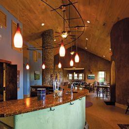 Black Ankle's eco-friendly tasting room, inside