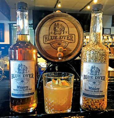 BlueDyer's whiskey is made from a bourbon mash and aged for a year.