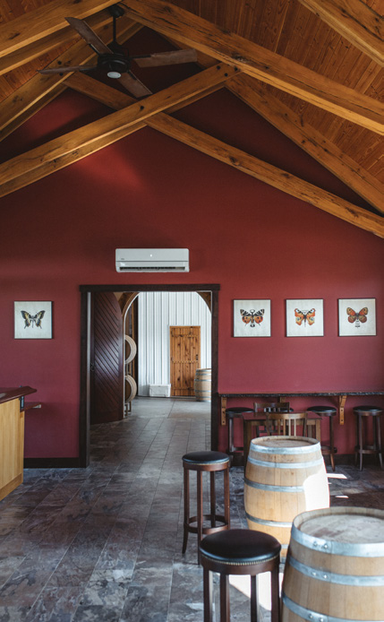 Inside the Catoctin Breeze tasting room.