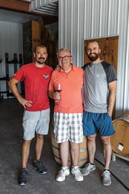 Voytek Fizyta (center) with sons Tommy (left) and Adam.