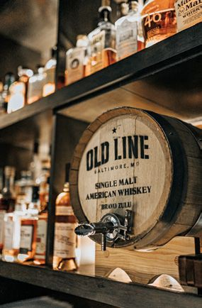 Cured uses local spirits, like Old Line's single malt whiskey