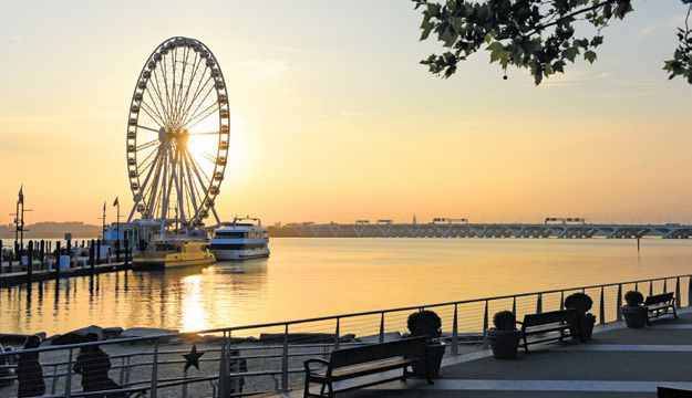 The Capital Wheel at National Harbor.