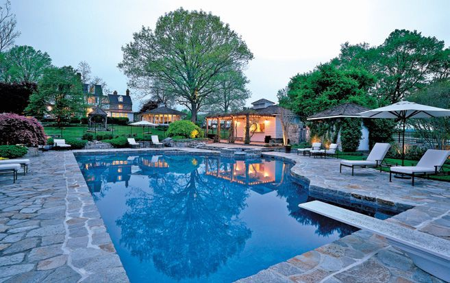 The pool at Tusculum Farm.