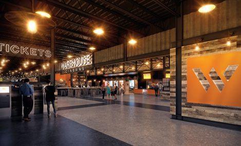 3D rendering of Warehouse Cinemas lobby