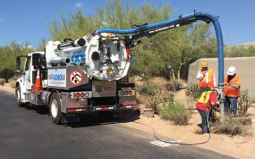 Having both hydro and air excavation capabilities increases versatility and allows the contractor to perform any vacuum excavation required.