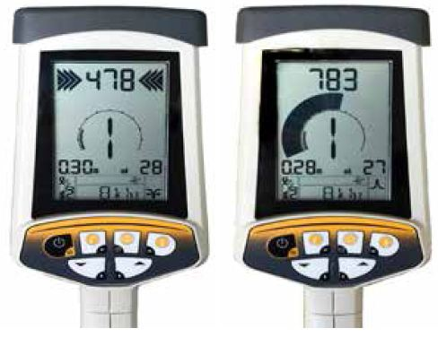 Check signal quality using your PEAK & NULL, Depth and Current measurement.