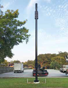 This Small Cell Services tower augments existing cellular coverage and converts it to 5G allowing for 5G coverage to reach more communities without a complete overhaul of legacy cellular infrastructure.