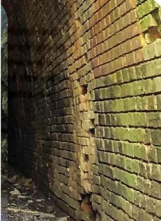 Hand-laid brick along the walls of the west entrance PHOTO COURTESY AMANDA S. CREASEY
