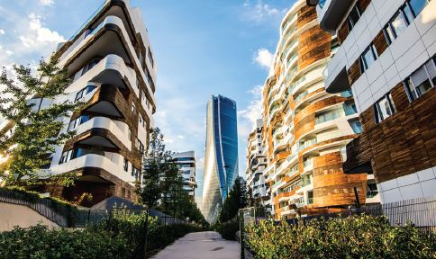 Skyscrapers in the CityLife district put Milan's vibrant modern architecture on display.