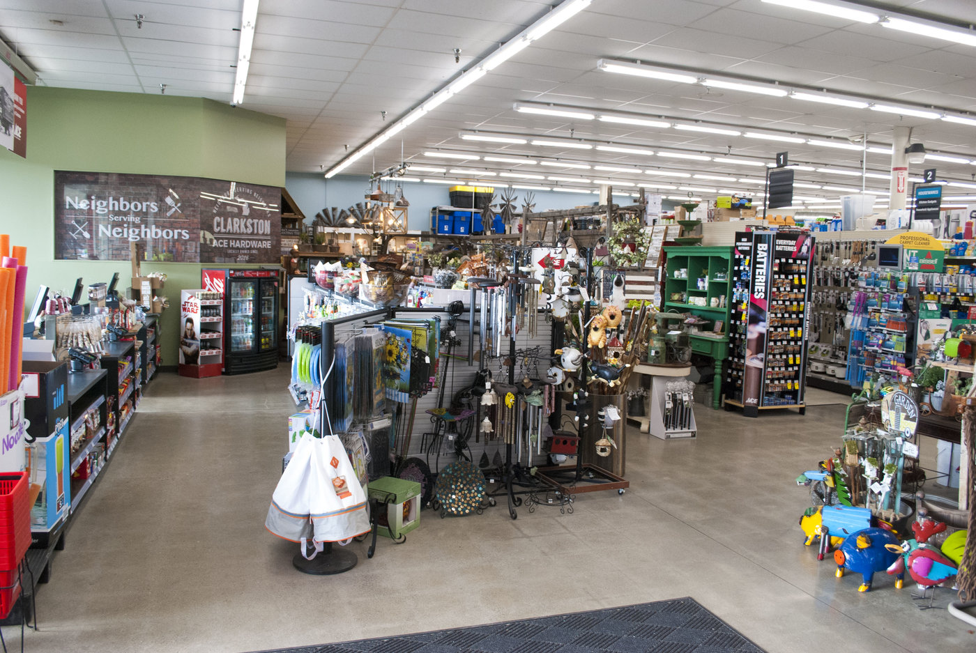 The 13,500-square-foot sales floor was completely remodeled with a new entrance, new checkouts, extended fixtures, barnwood accents on the walls and new LED lights.
