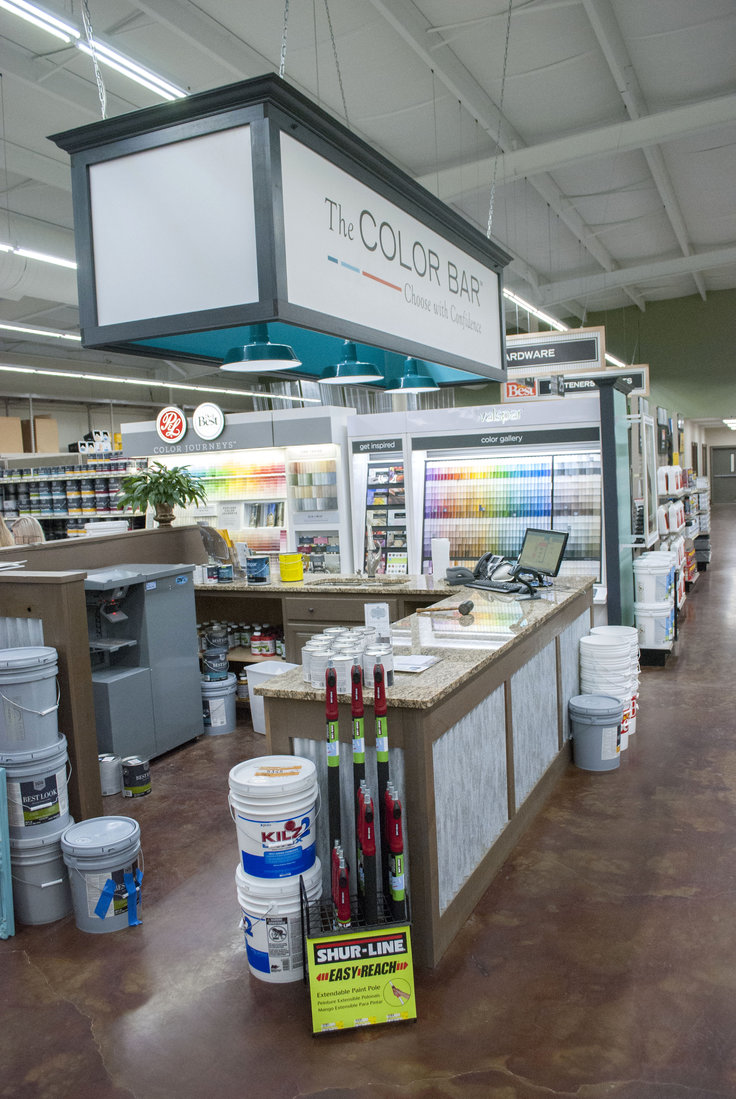 The store adopted The Color Bar, Do it Best's new paint program.