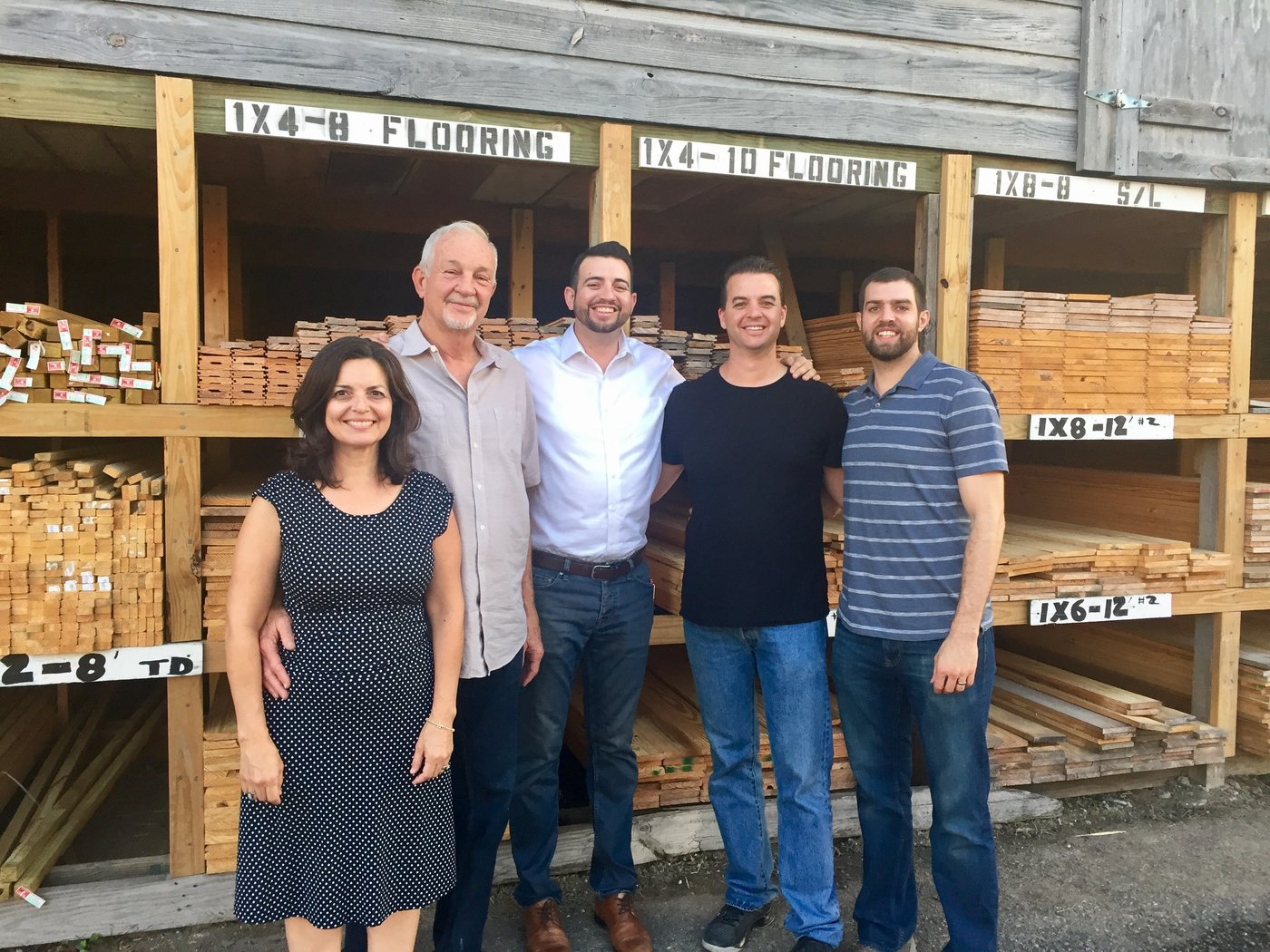 Diana and Danny Smith purchased Matt's Building Materials in 2002 and have turned over many of the day-to-day responsibilities to their sons Isaac, Jeremy and Ben.