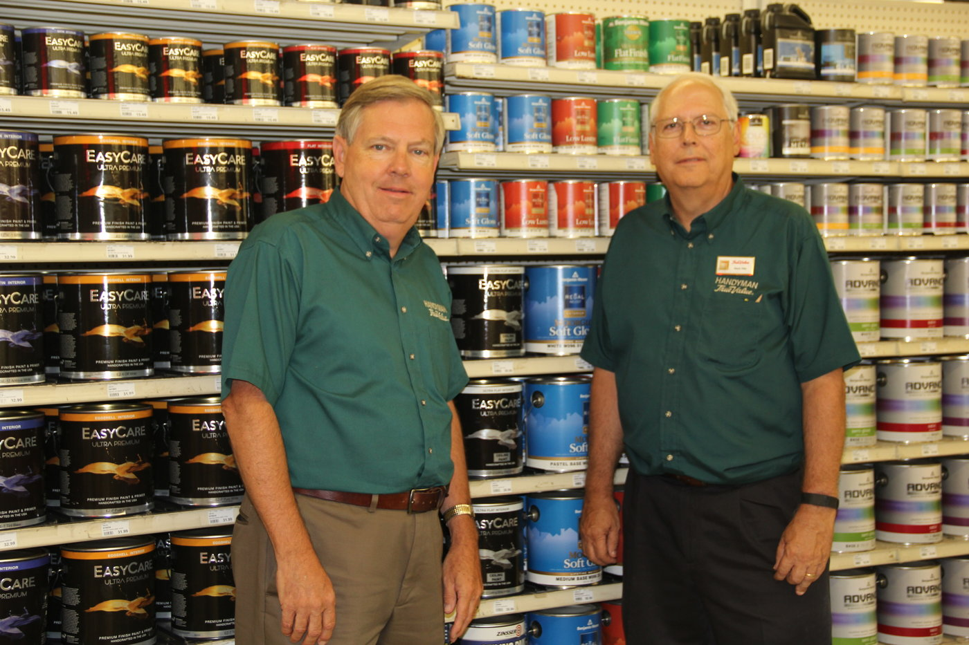 Dave Otto (left) and Glenn Otto are the second-generation owners of Handyman True Value Hardware, with three stores in Missouri.