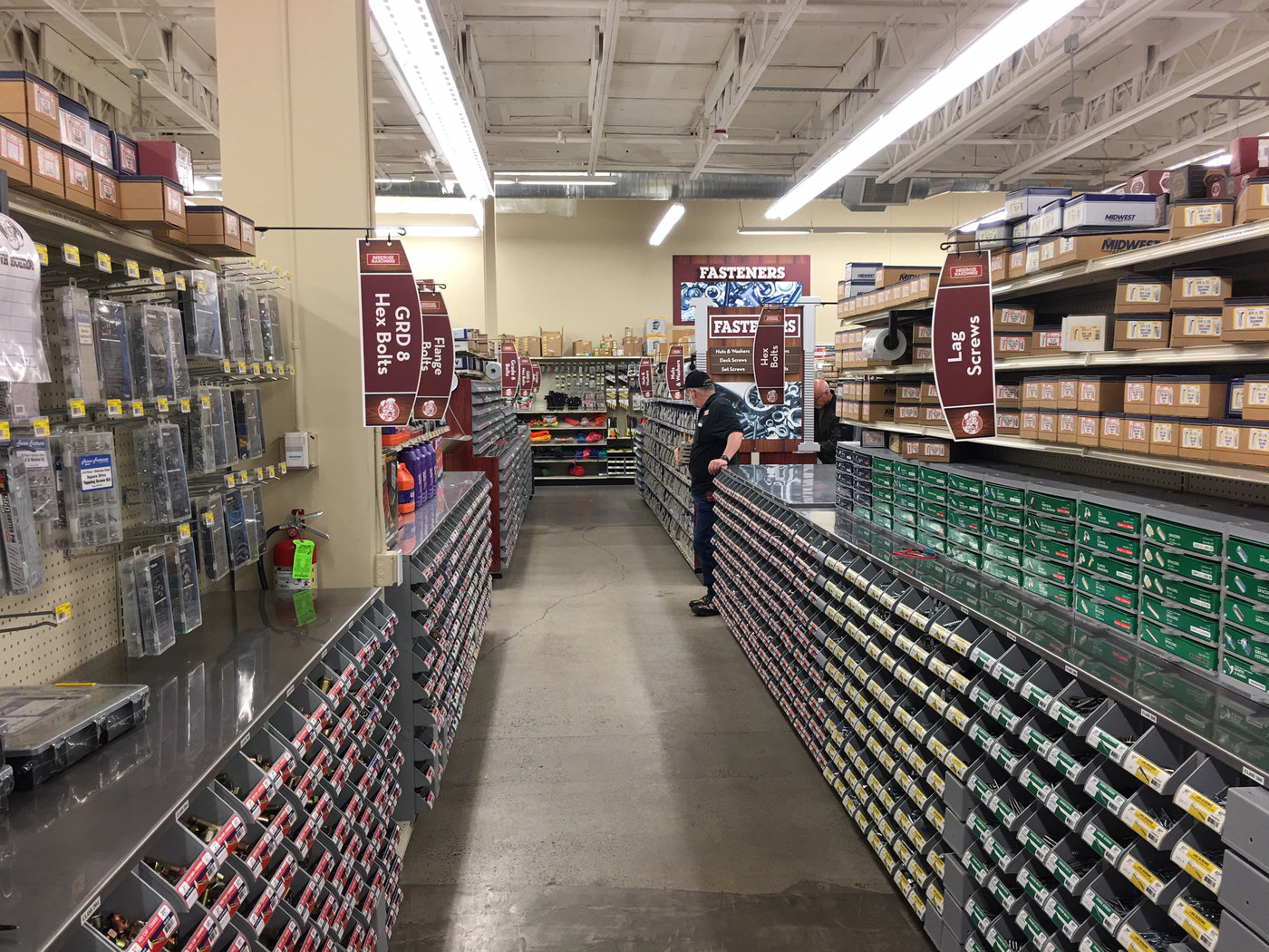 Parkrose Hardware is known for its huge fasteners section.