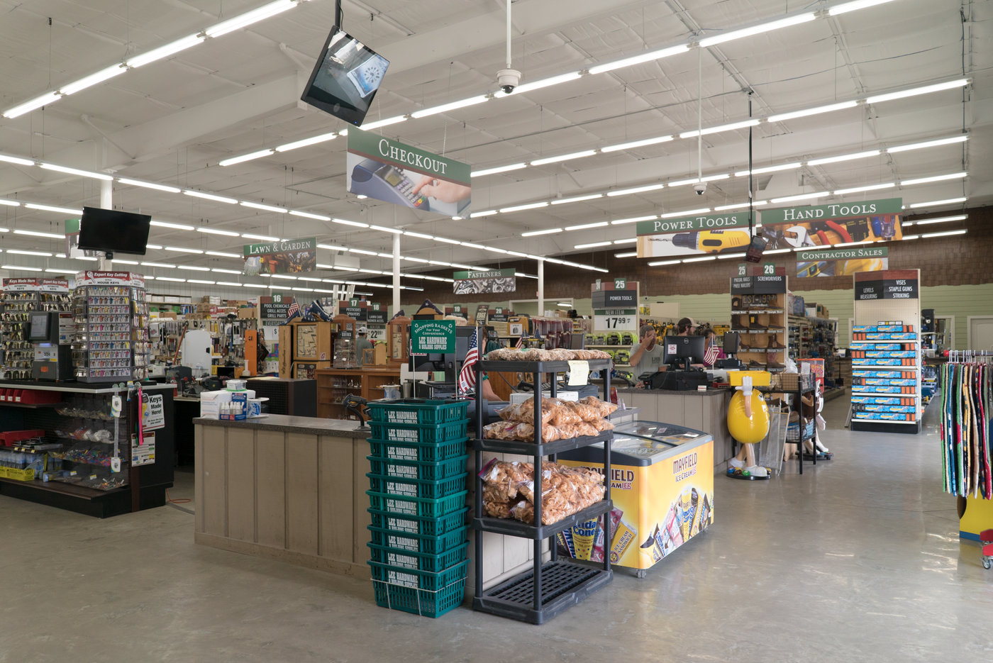 The new, larger sales floor enables them to stock more in core categories while expanding into new categories like grills and pool supplies.