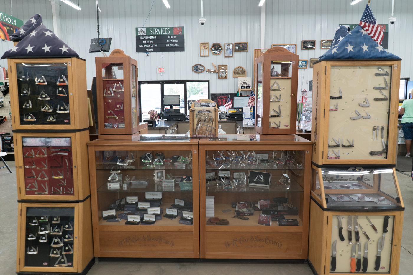 The store is the only platinum Case Knives dealer in the area.