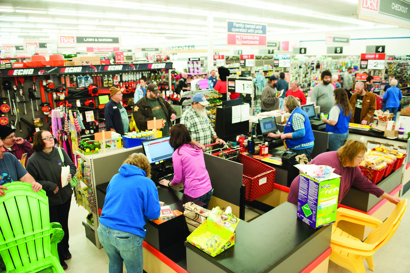 The store's grand opening in April 2016 attracted more than 2,000 people in a town of 2,400.
