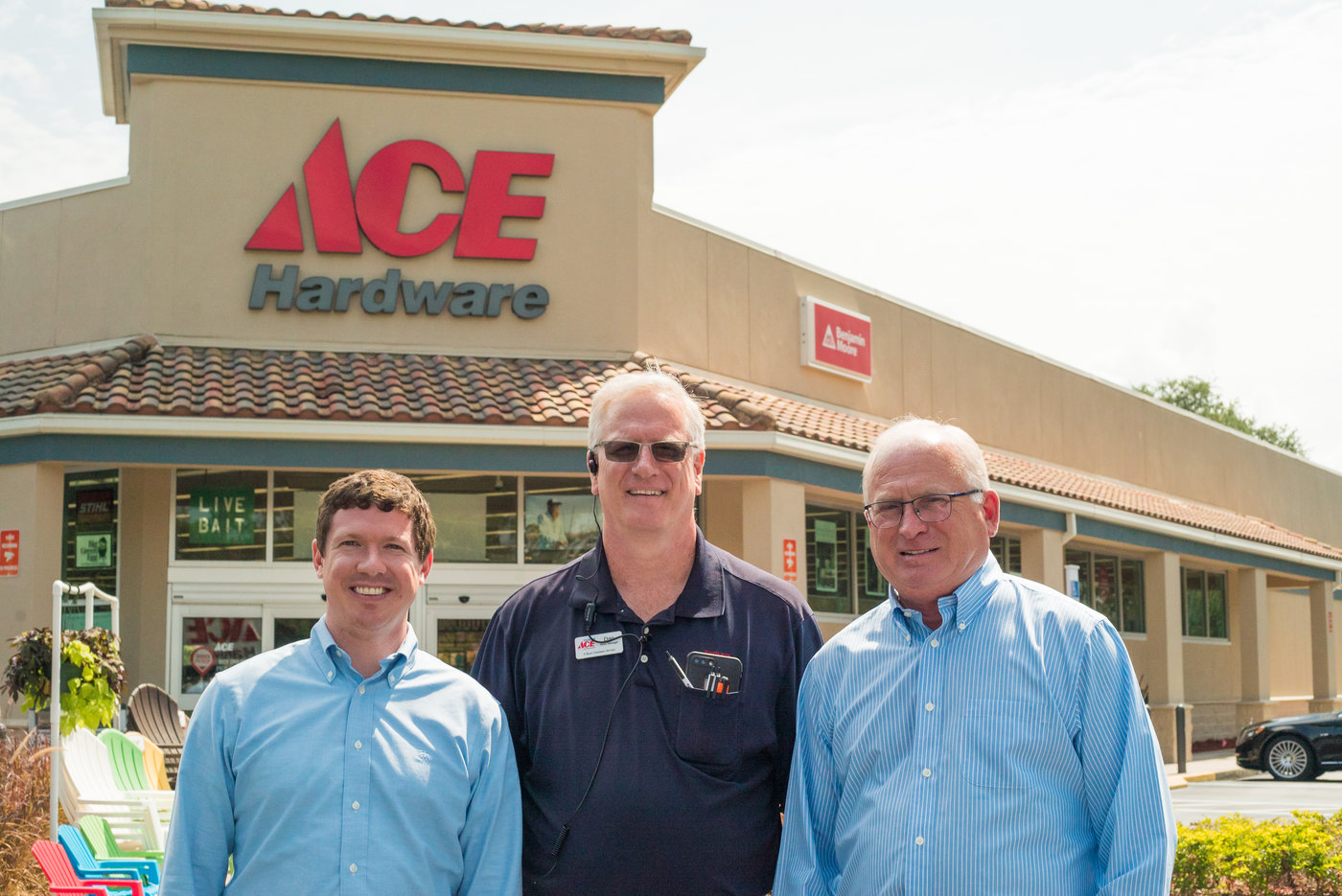 University Ace Hardware is led by (left to right): General Manager Neil Asma, Manager Dan Tanner and Owner Walter Toole.