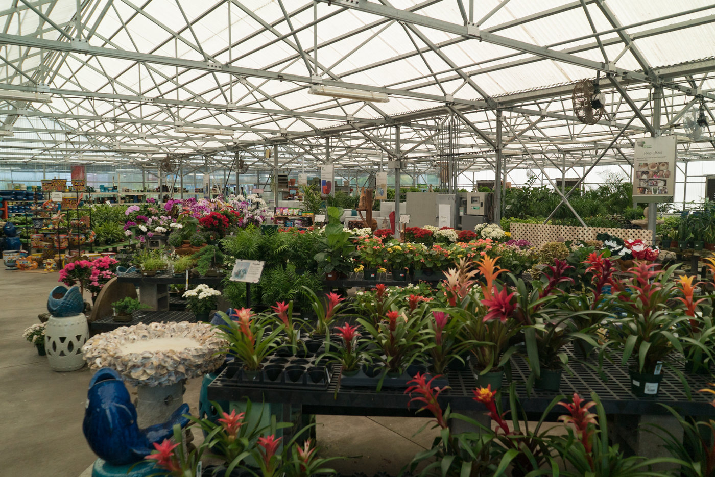 Large garden centers in their two largest stores help drive traffic.