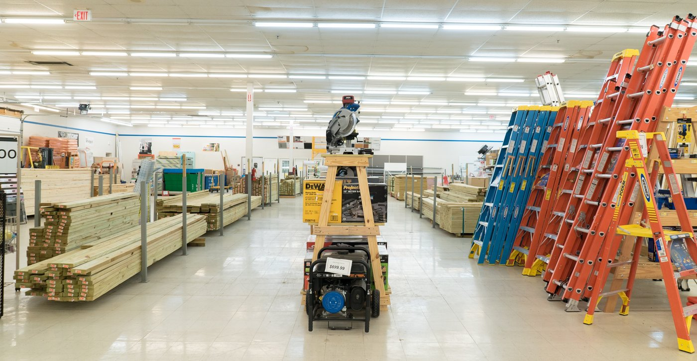 After originally planning to lease half the space in the store to an outside tenant, they decided to fill the space with new items like convenience lumber and building materials, which has proven successful.