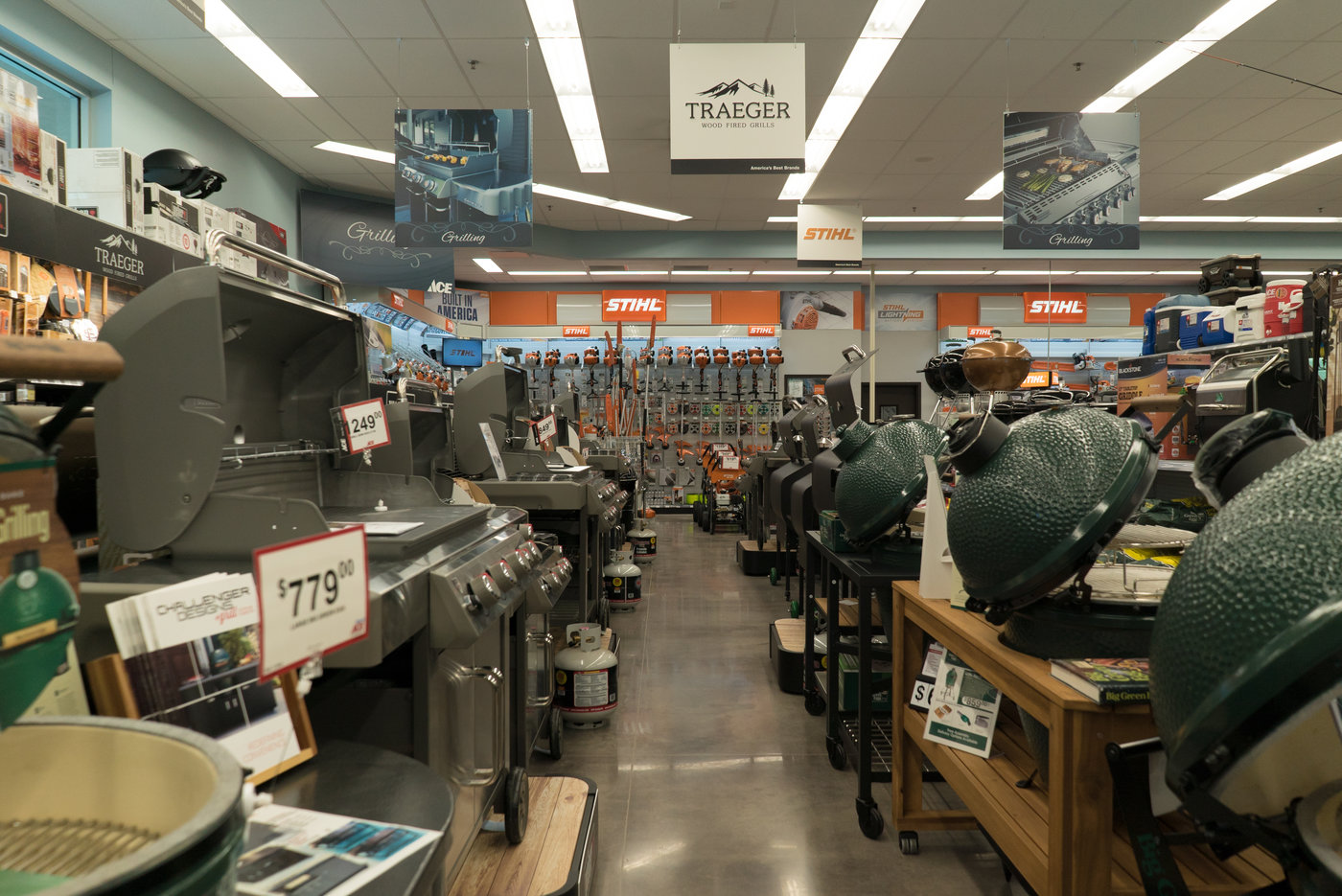 As soon as customers walk in the store they can see it is a destination for grills.