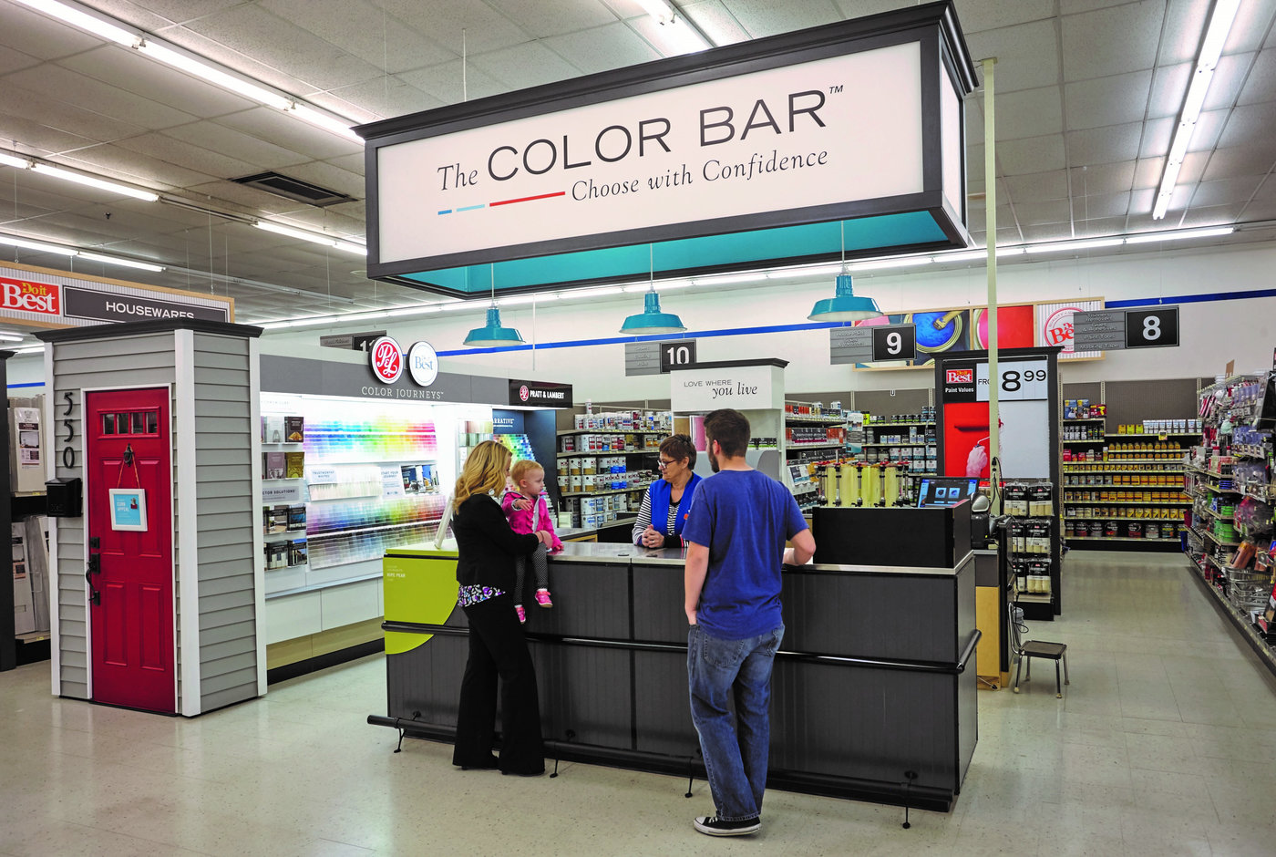 Paint sales are up 10 percent since adding The Color Bar in 2017.