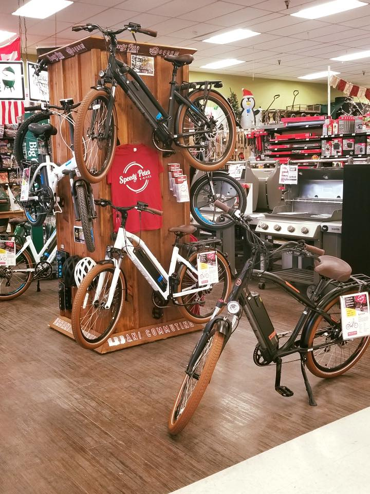 Q.P. Ace Hardware in Lincoln, Neb., has started selling electric bicycles.