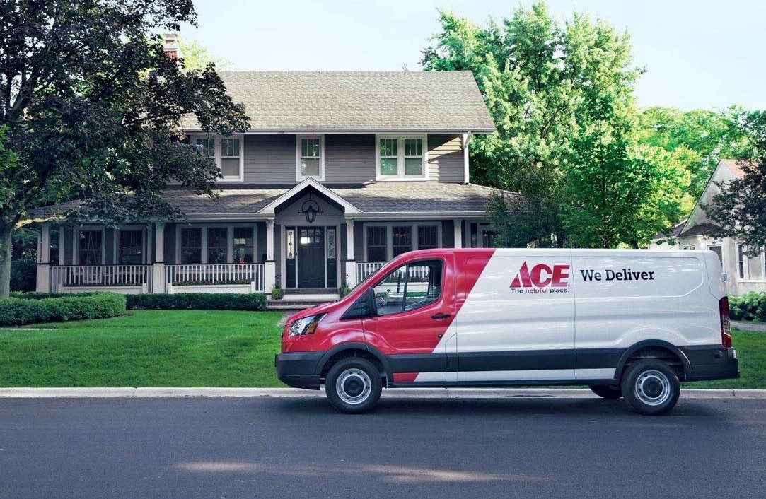 Ace is offering expanded delivery options for online orders such as ship to home or delivery from store.