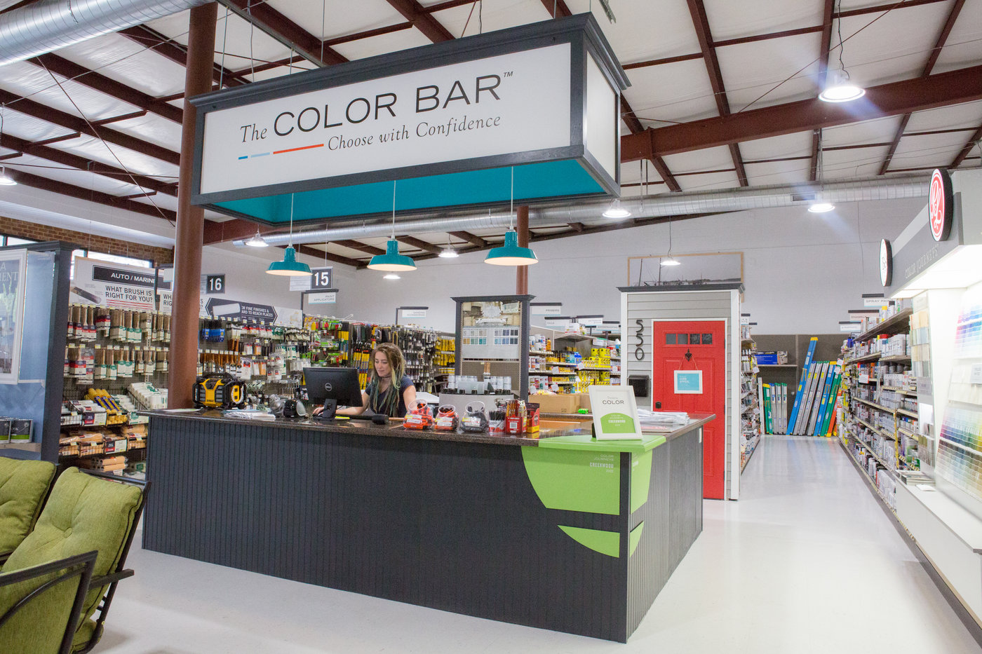 Adopting The Color Bar paint department has led to strong sales in paint.